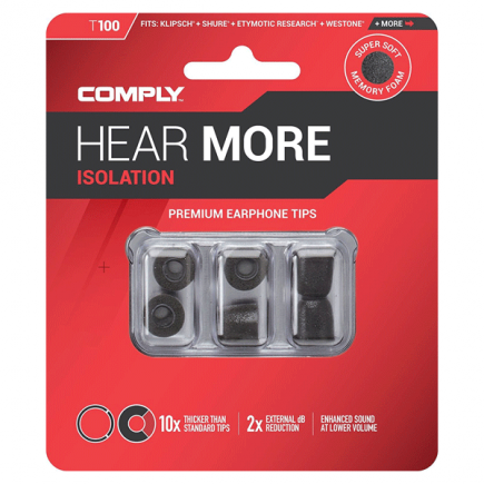Comply Isolation T-100 / rozmiar M / 3 pary