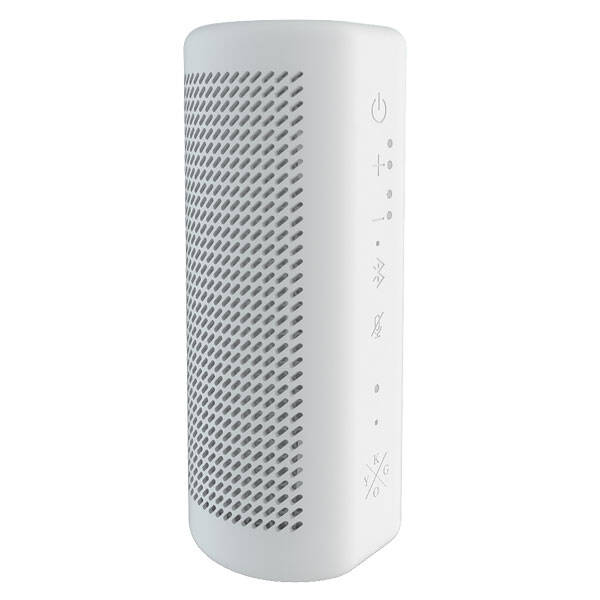 Biały głośnik bluetooth z asystentem Google Kygo B9/800 Smart Speaker